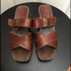 Vintage Connie Brown Buckle Sandals